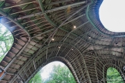 Another view from inside this pavilion. The architects ensured that the venue was beautiful from the inside and out.
