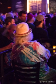 Wavy Gravy stayed late, taking in the musical tributes to him.