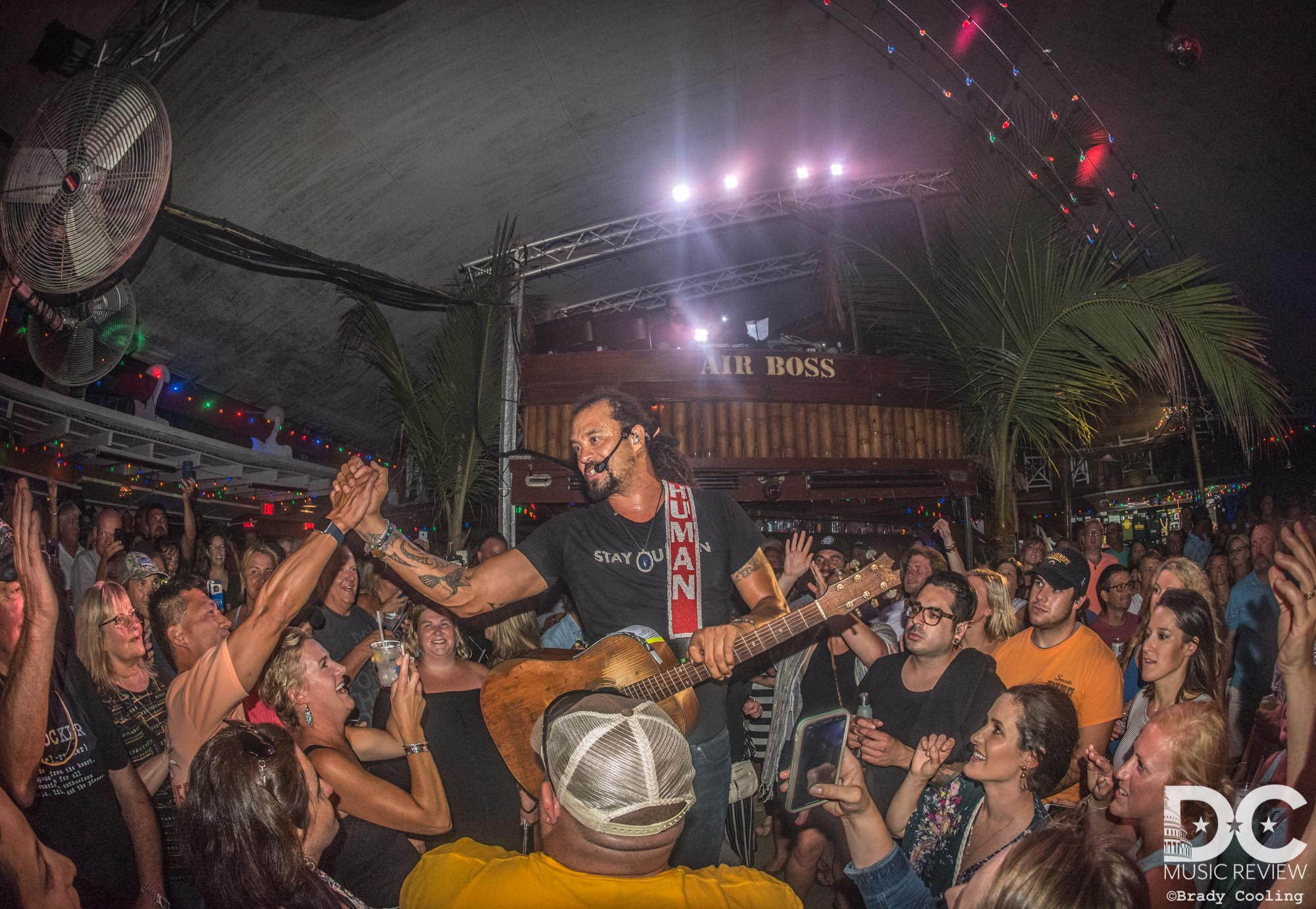 Michael Franti enjoys performing in the crowd