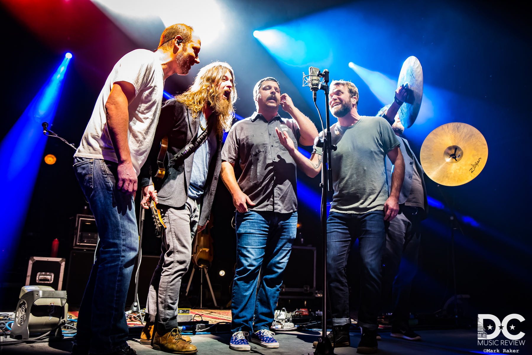 Greensky Bluegrass, a capella moment at the Anthem