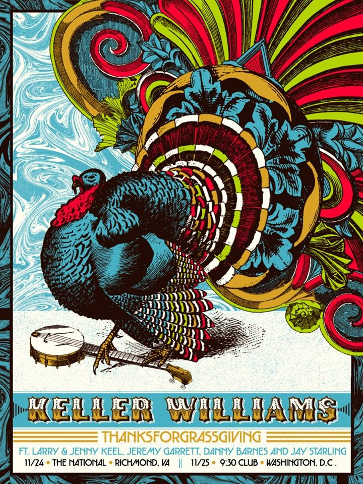 Keller Williams Thanksforgrassgiving 2017 Poster