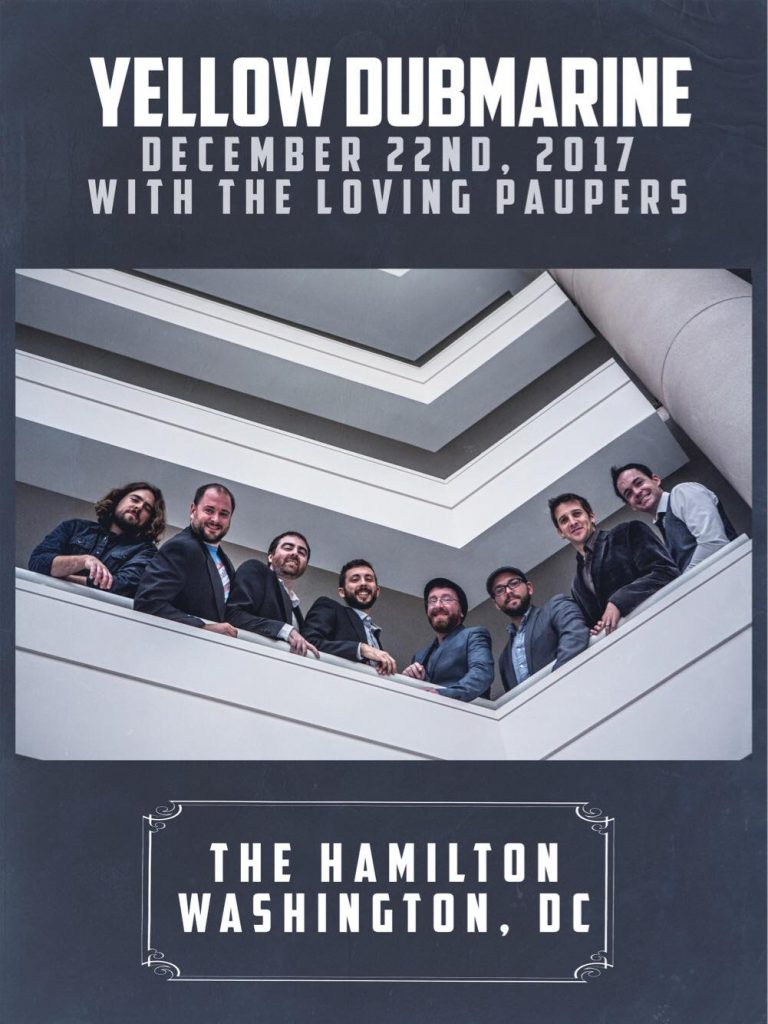 Yellow Dubmarine performs at The Hamilton Concert Poster