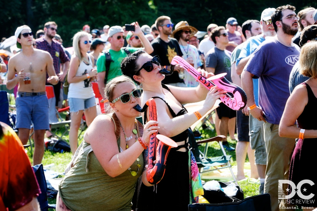Fans enjoy a fantastic set by Lettuce at last year's Hot August Music Festival.