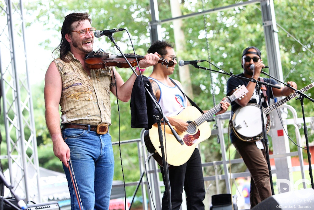 Whiskey Shivers performs at Hot August Music Festival
