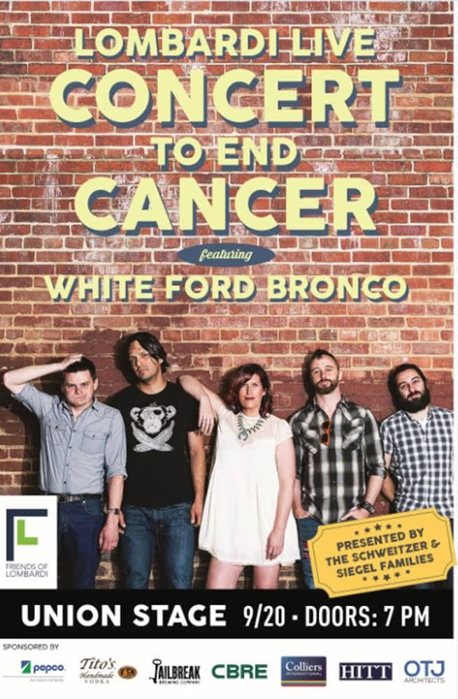 White Ford Bronco: Lombardi Live Concert to End Cancer