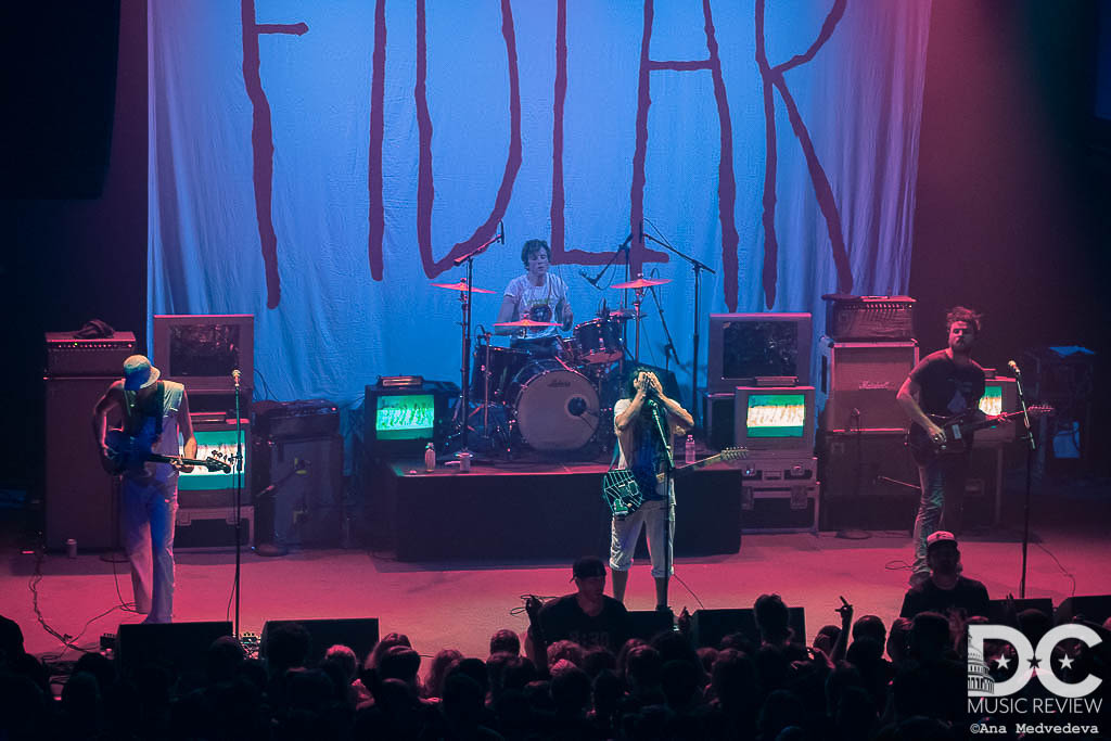 Wide shot of FIDLAR performing at the 9:30 Club