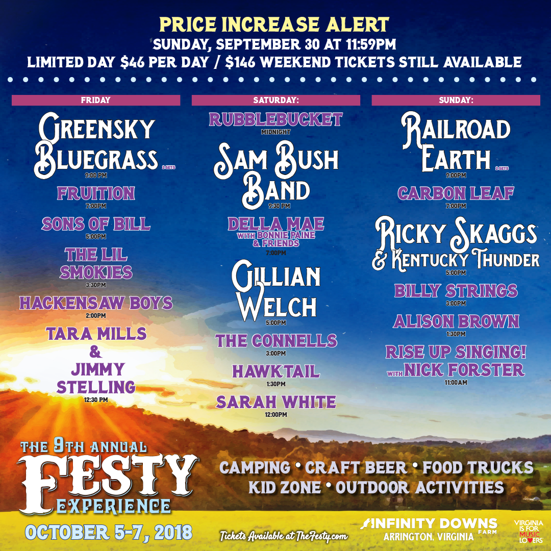 The Festy Experience Schedule
