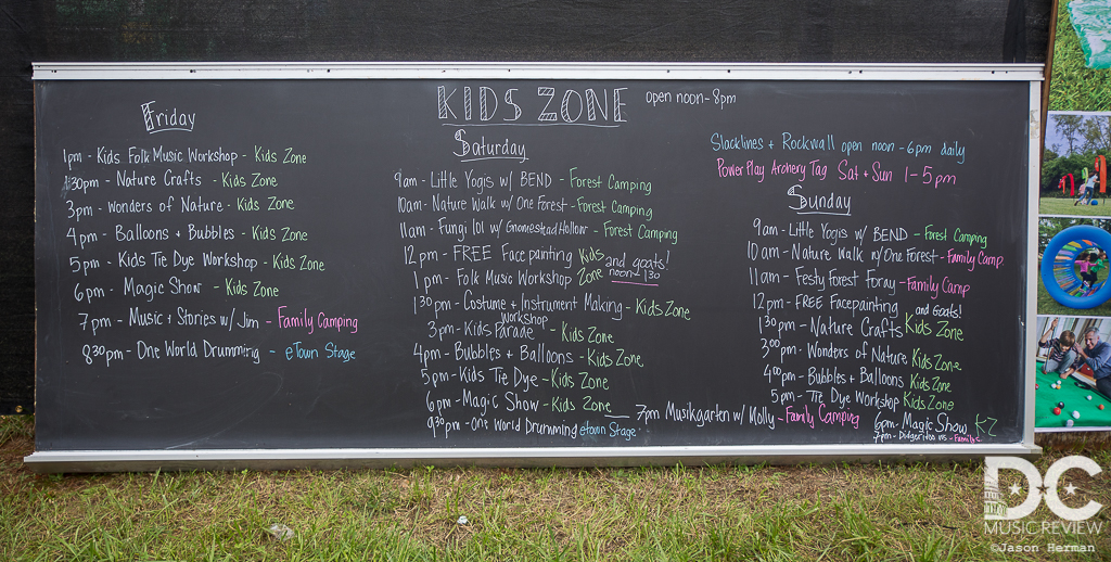 A full weekend of activities were planned for The Kid Zone