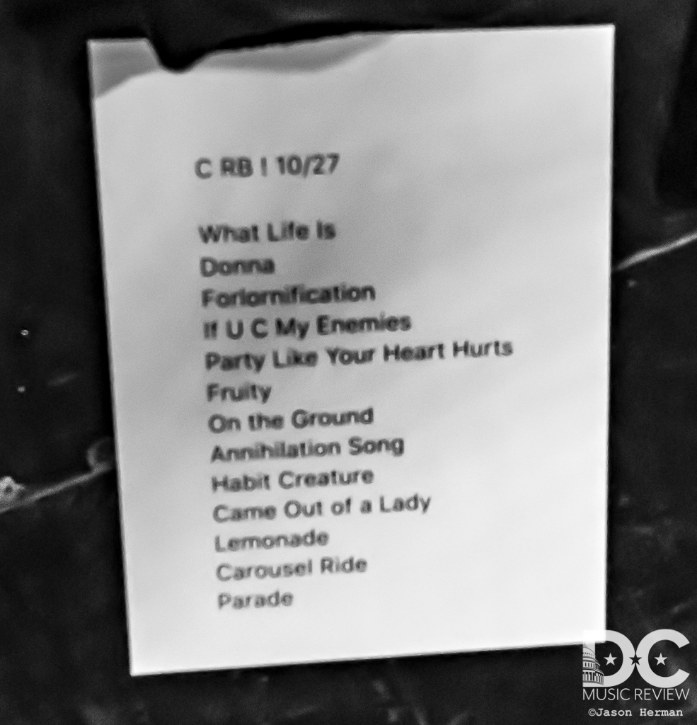 Rubble Bucket U Street Music Hall Setlist
