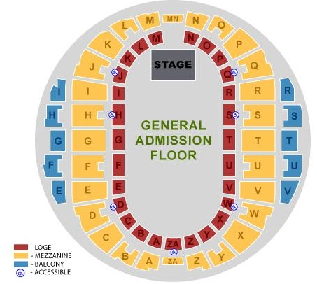 Hampton Coliseum Seating Charts