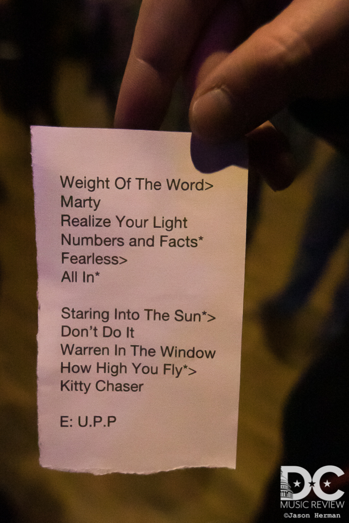 Aqeuous' Setlist for Union Stage
