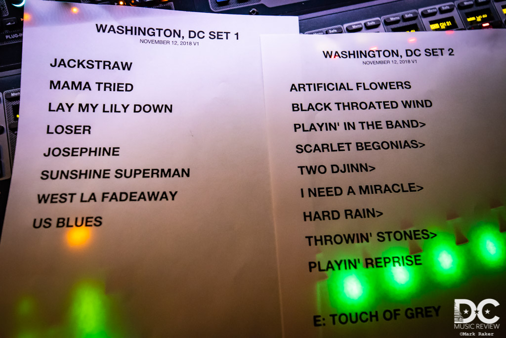Bob Weir and Wolf Bros at Warner Theater Setlist