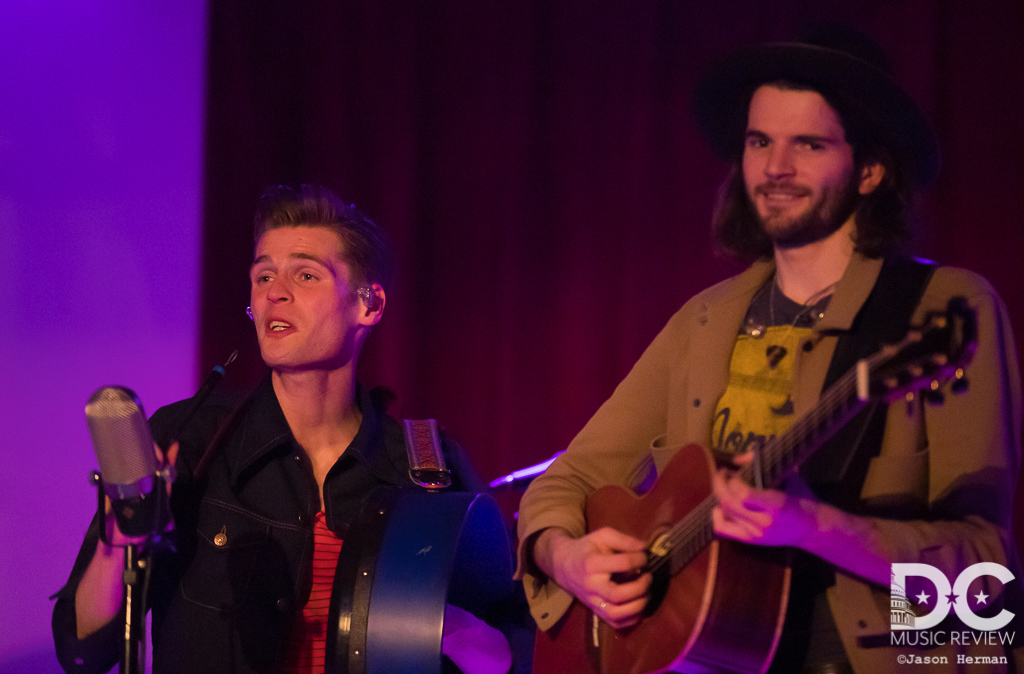 Brothers Alfie and Harry Hudson-Taylor of Hudson Taylor perform at City Winery DC