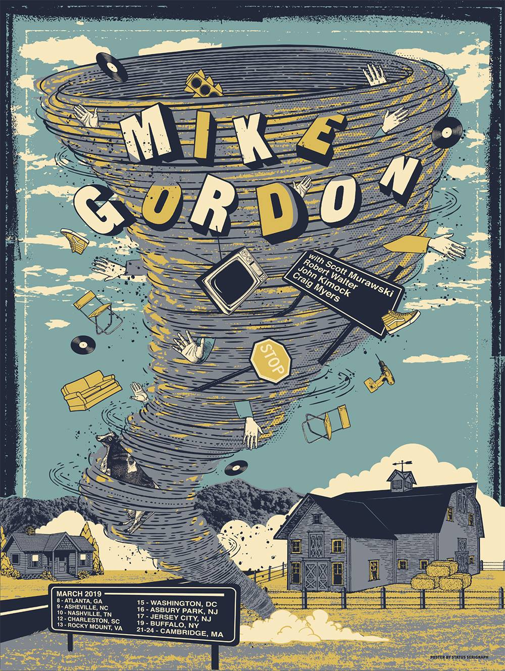 Mike Gordon March 2019 Tour Poster (Photo Courtesy of Status Serigraph)