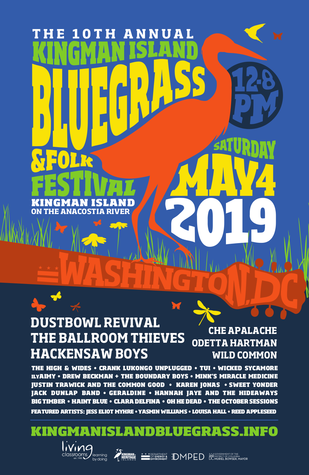10th Annual Kingman Island Bluegrass & Folk Festival