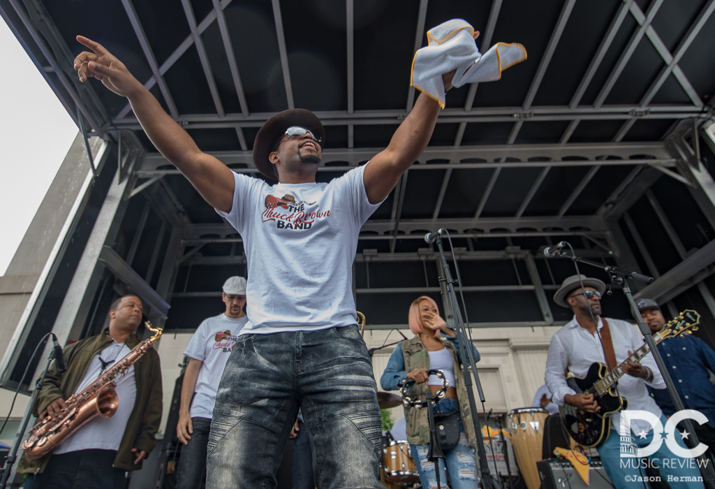 The Chuck Brown Band performs at the 2019 DC Funk Parade