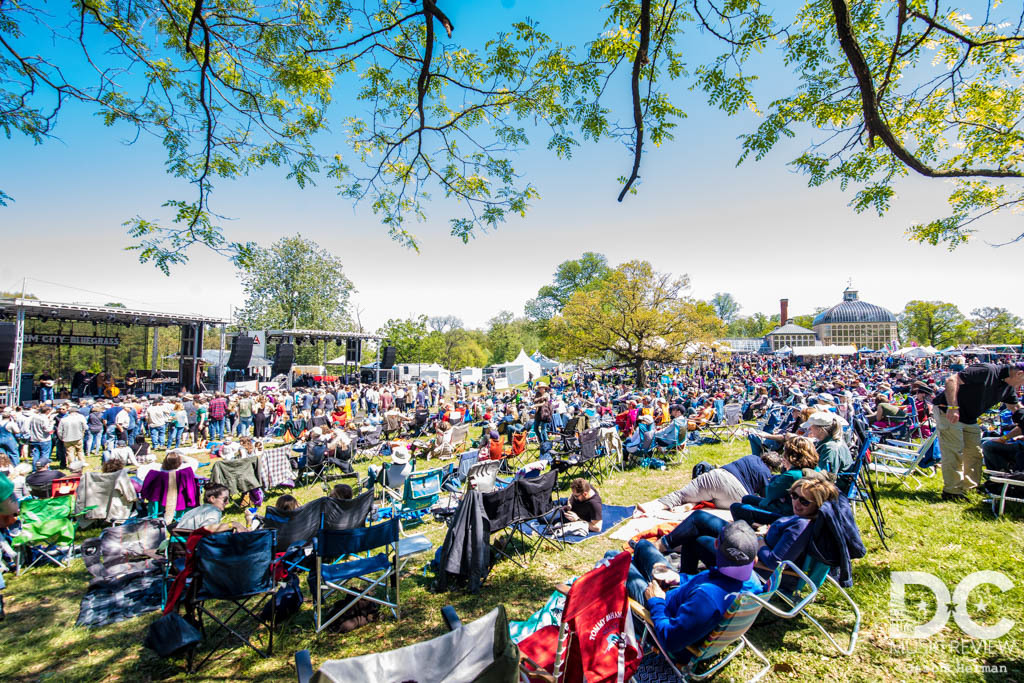The audience takes in great weather at the 2019 Charm City Bluegrass Festival