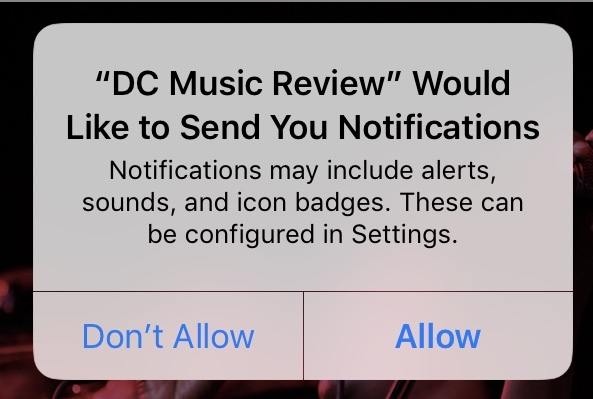 Allow Push Notifications