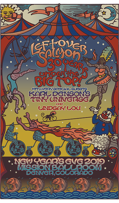 Leftover Salmon - 30 Years Under The Big Top - NYE 2019 Poster