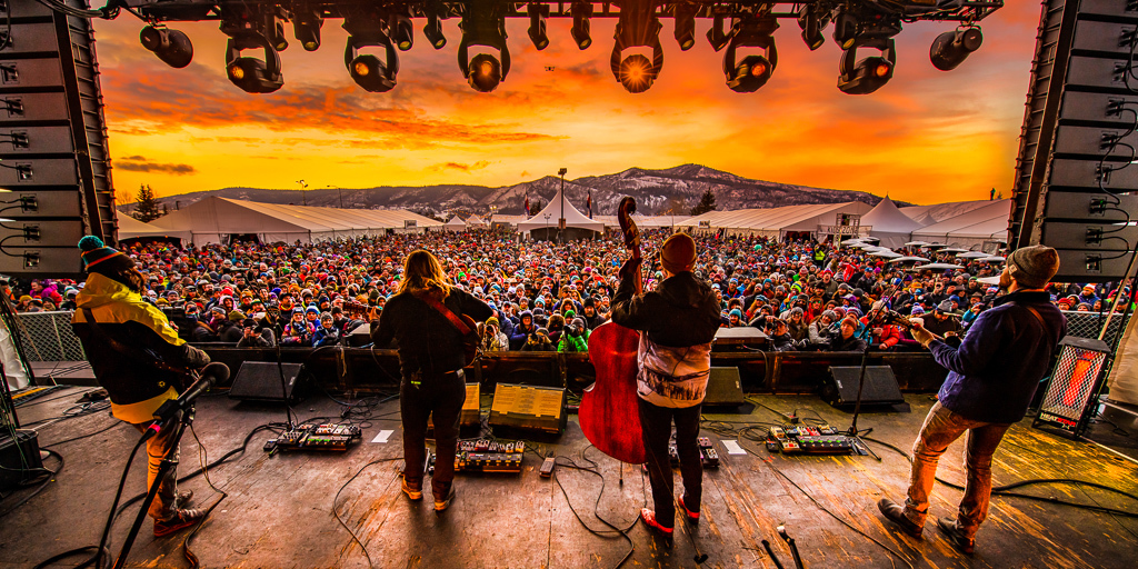 Winter WonderGrass 2020 - Billy Strings plays into the sunset! (Photo Credit: Molly McCormick)