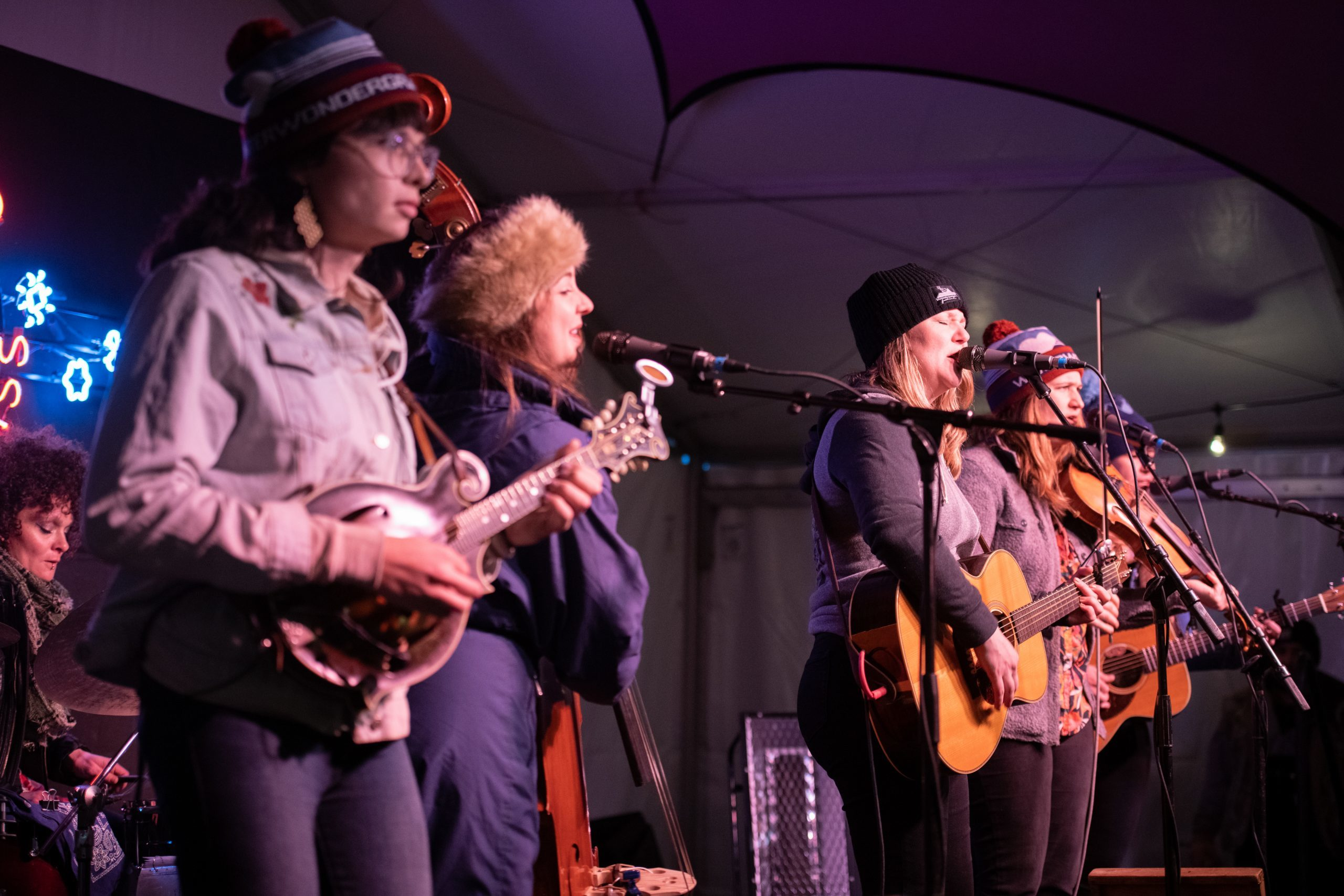 Della Mae performs at WinterWonderGrass  (Photo Credit: Molly McCormick)