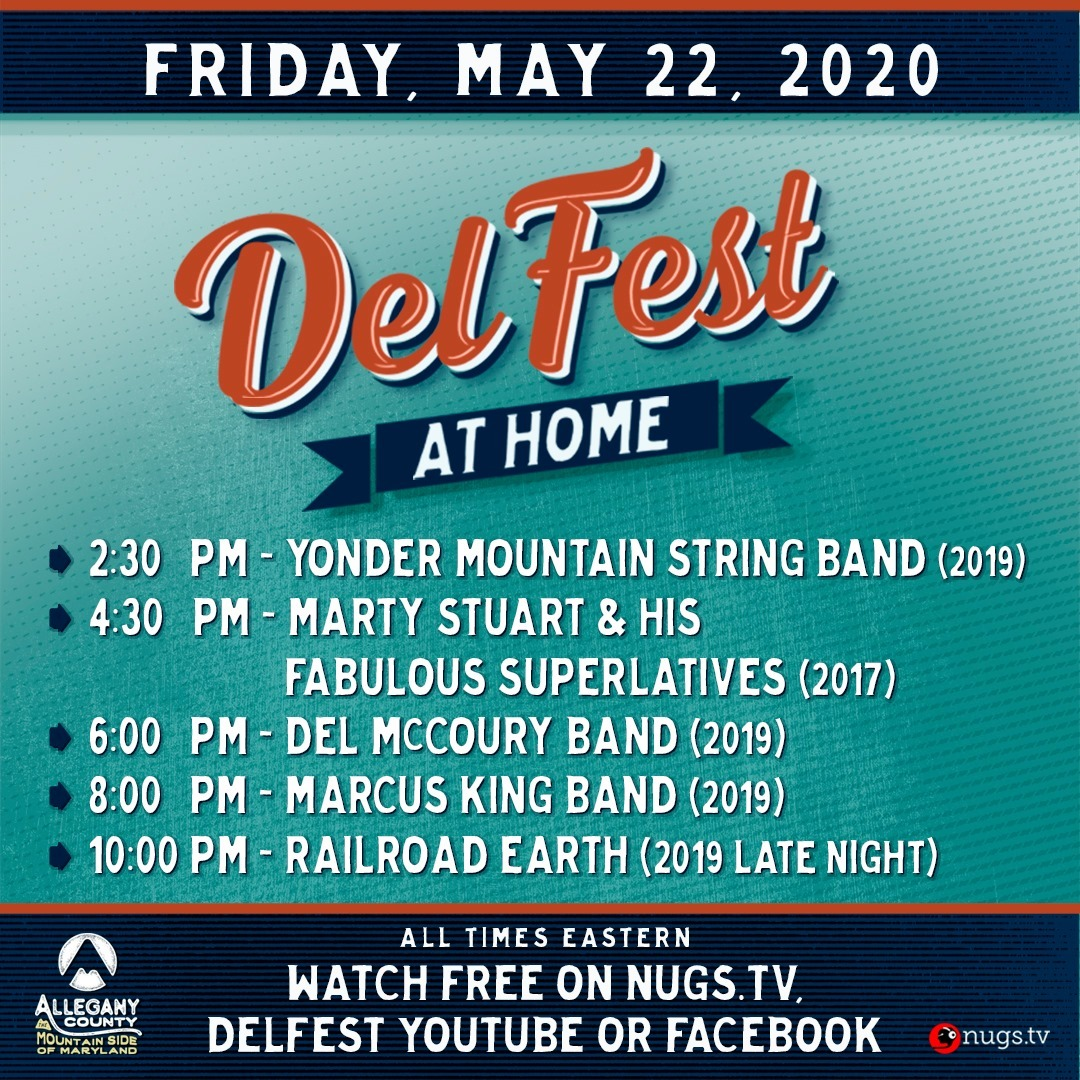 DelFest at Home - Friday, May 22, 2020