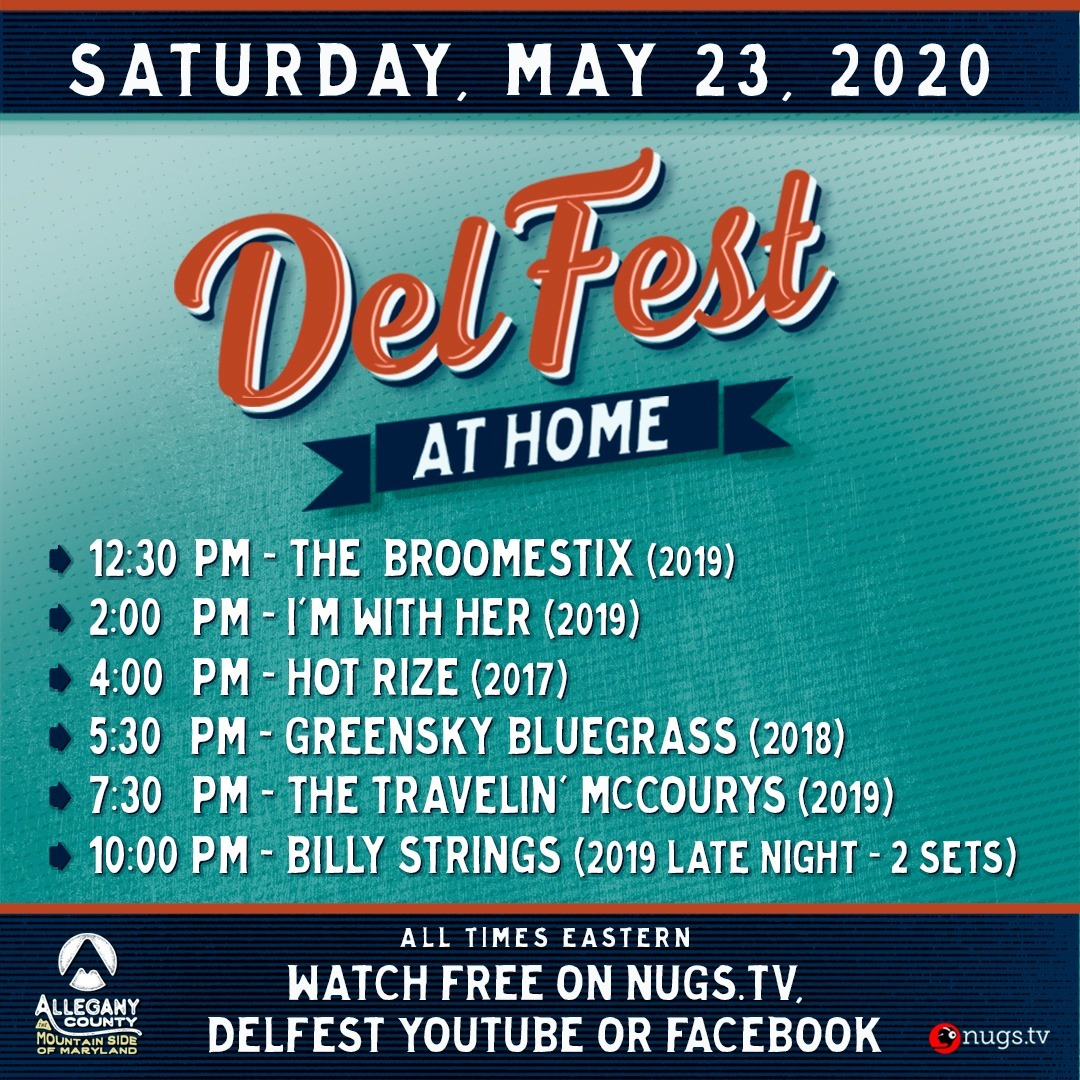 DelFest at Home - Saturday, May 23, 2020