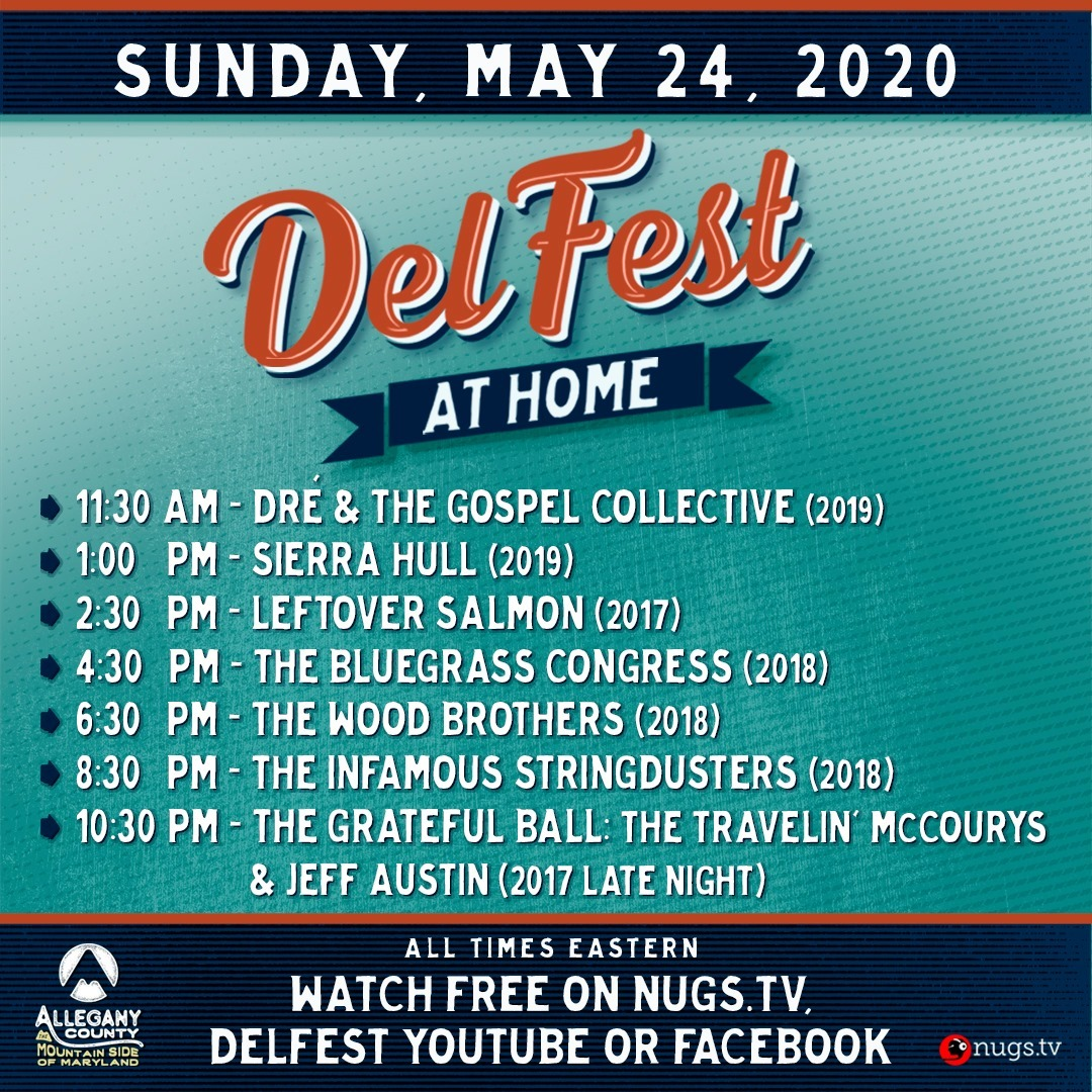 DelFest at Home - Sunday, May 24, 2020